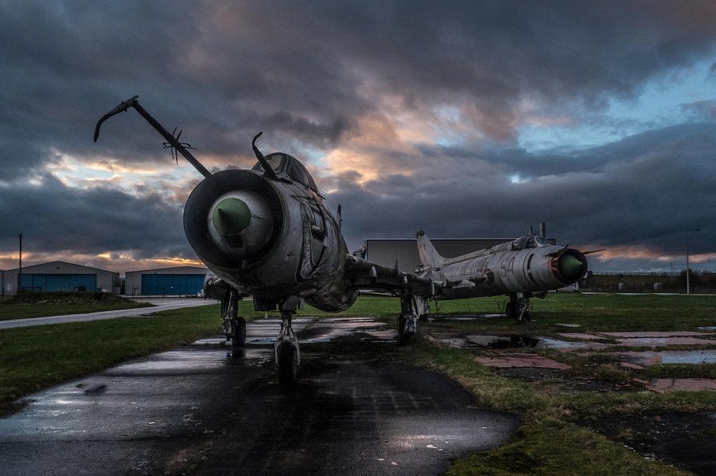 Soviet era fighter jets